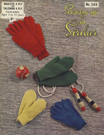 Children Mittens Gloves Vintage Knitting Pattern For Download Sz 3