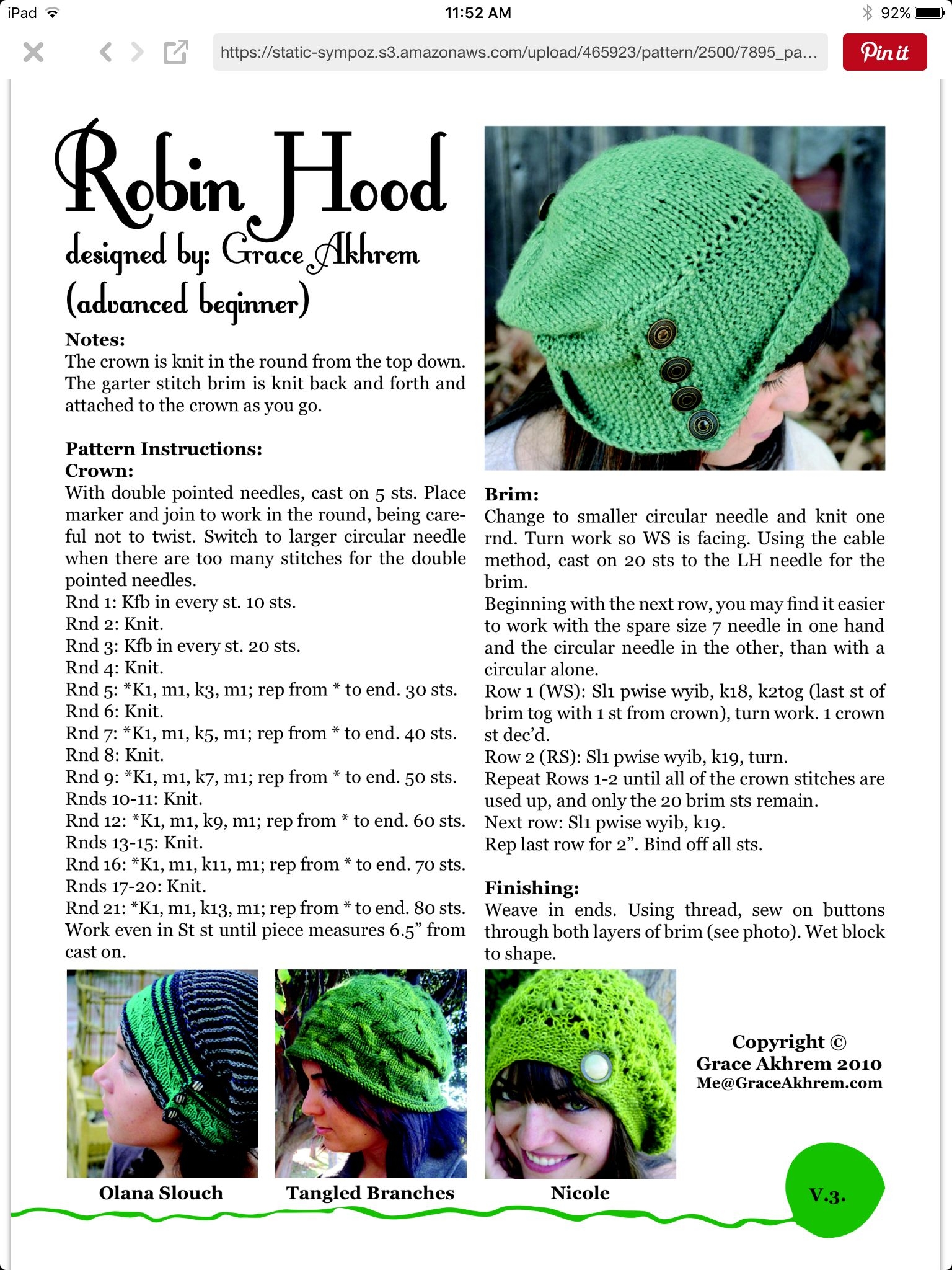 Robin Hood hat | knitting | Pinterest | Knit hats