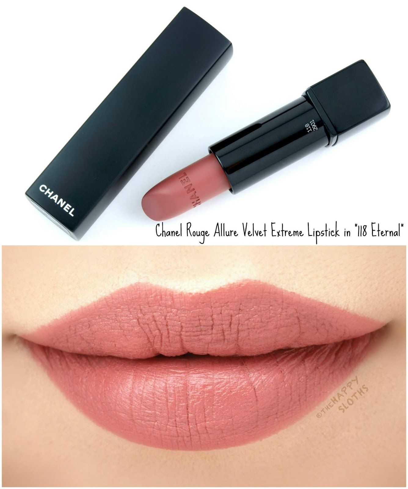 17f20b71979 Chanel | Rouge Allure Velvet Extreme Lipstick: Review and Swatches | The  Happy Sloths: Beauty & Makeup Review Blog, Swatches, Beauty Product Reviews