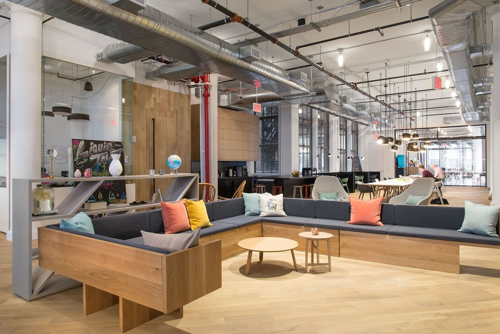 A tour of rise new york coworking space design for Space and co