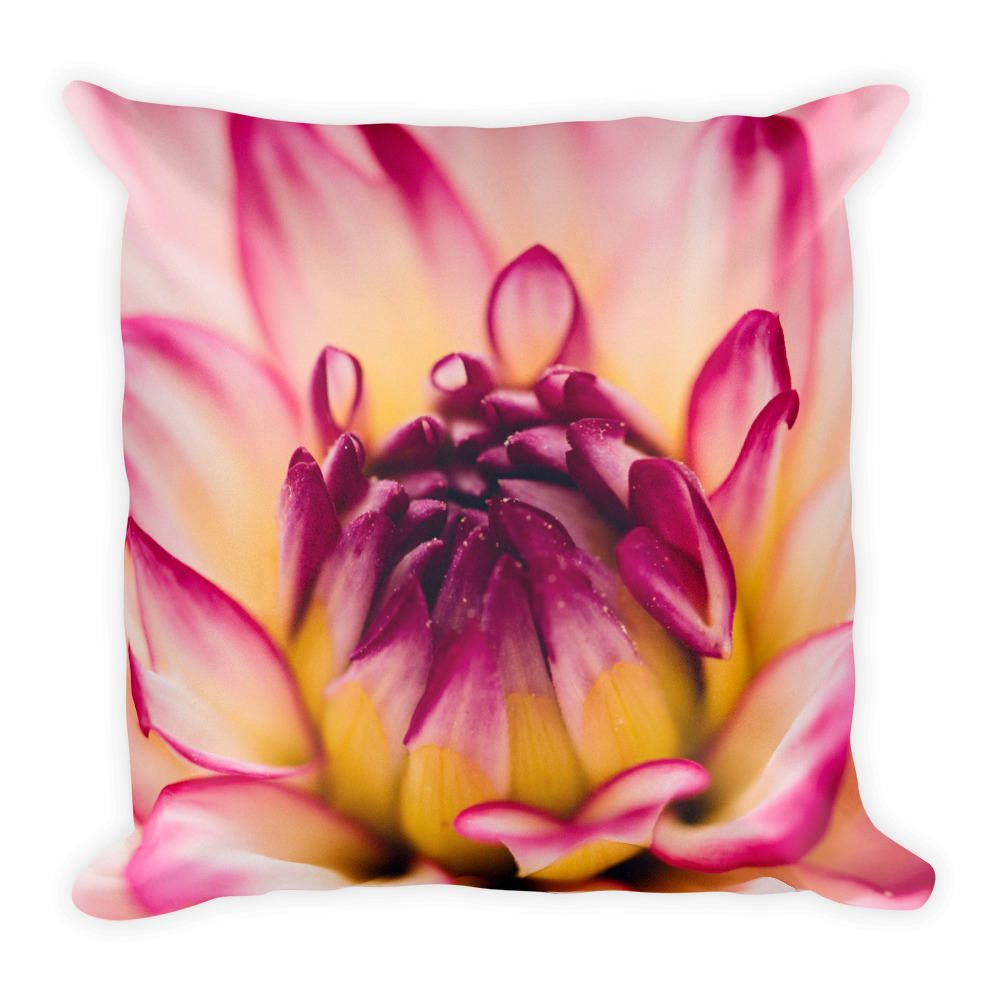 Pink Flower Close Up Best Pillow Gifts 18x18 Throw Pillow Flower