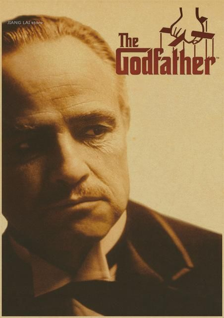 The Godfather God Father Vintage Poster Classic Old Movie Posters Retro Kraft Paper Jason Statham Picture Core Godfather Movie The Godfather Good Movies