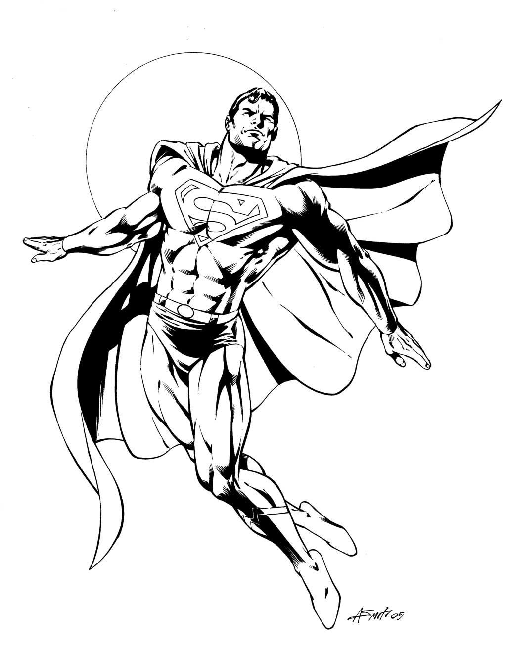 Superman comic colouring page | Coloring Pages | Pinterest