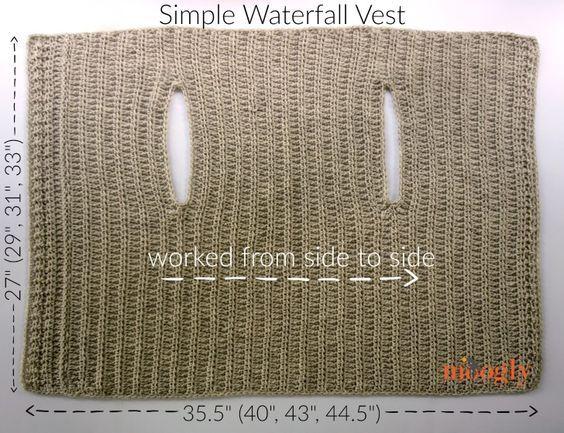 Simple Waterfall Vest