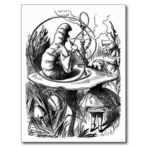 Alice In Wonderland John Tenniel Post Card Alice In Wonderland Illustrations Caterpillar Alice In Wonderland Alice In Wonderland Original