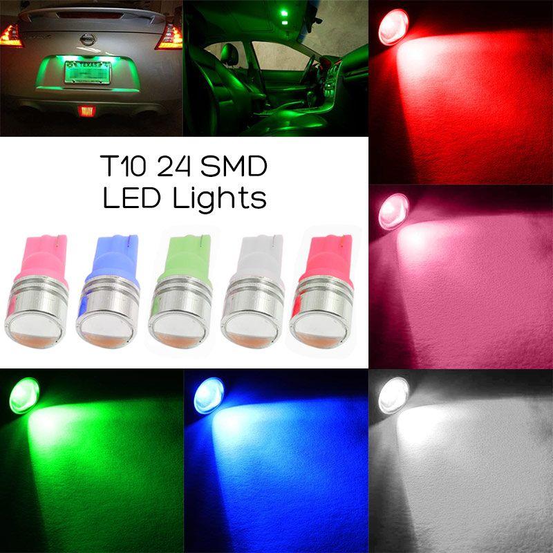 1 39 2pcs White 12v Led Car Light Bulbs Led License Plate Light T10 Wedge Afflink 2pcs White Light Bulbs License Plate Ligh 12v Led Light Bulbs Bulb