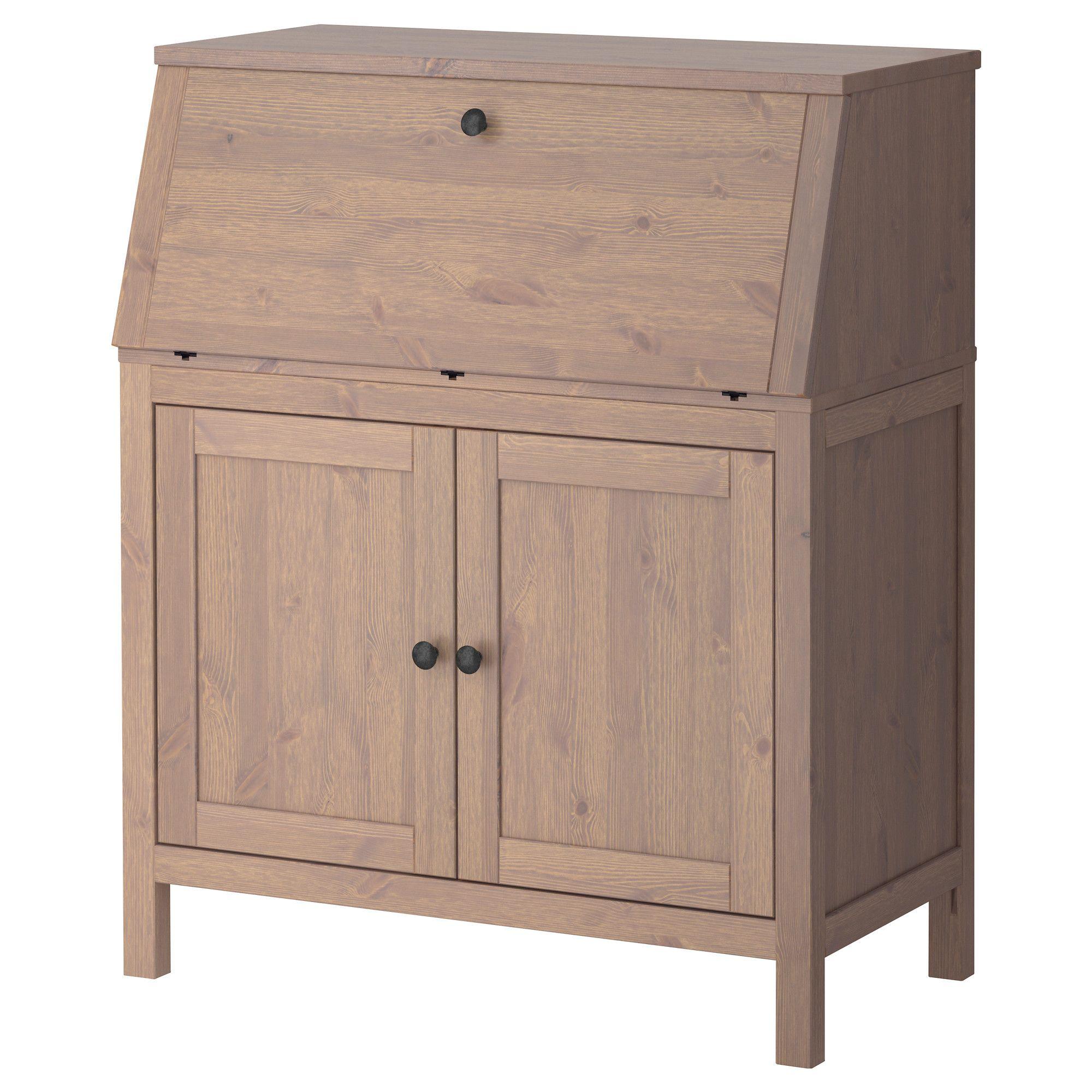 HEMNES Bureau - grey-brown - IKEA