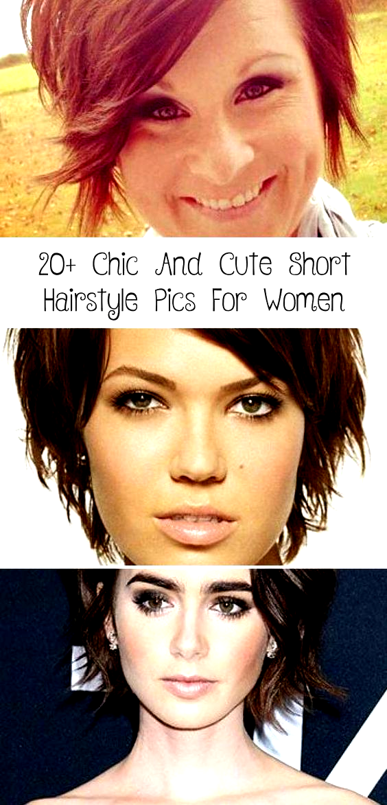 20 Chic Cute Short Hairstyle Pics For Women First Of All Healthy Beautiful Hair Is In Fashi In 2020 Cute Hairstyles For Short Hair Short Hair Styles Hair Pictures