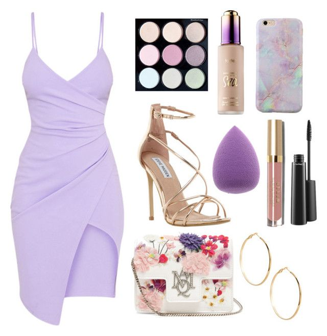 """💜"" by ivana-trejo ❤ liked on Polyvore featuring Alexander McQueen, Steve Madden, tarte, Stila, GUESS by Marciano and MAC Cosmetics"