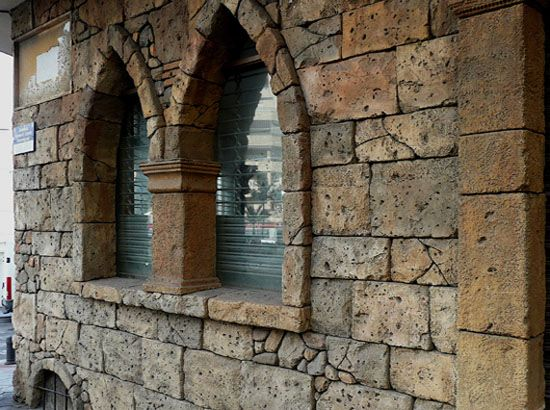 Vertical Stamped Concrete Wall Stone Pinterest