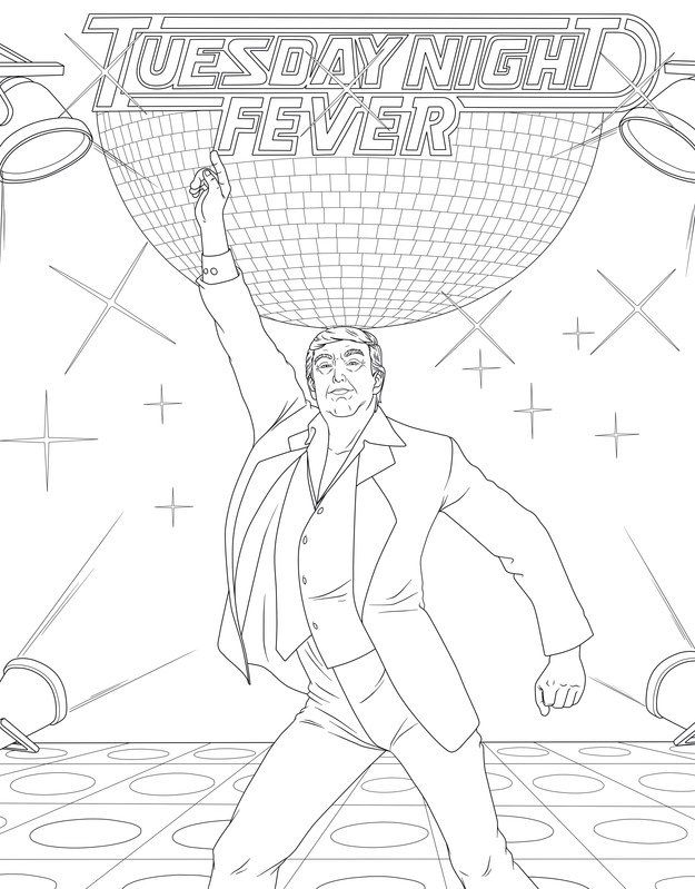 This Is What A Donald Trump Coloring Book For Adults Looks Like