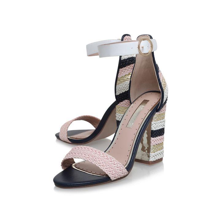EBONY Multi-coloured High Heel Sandals by Miss KG | Heels