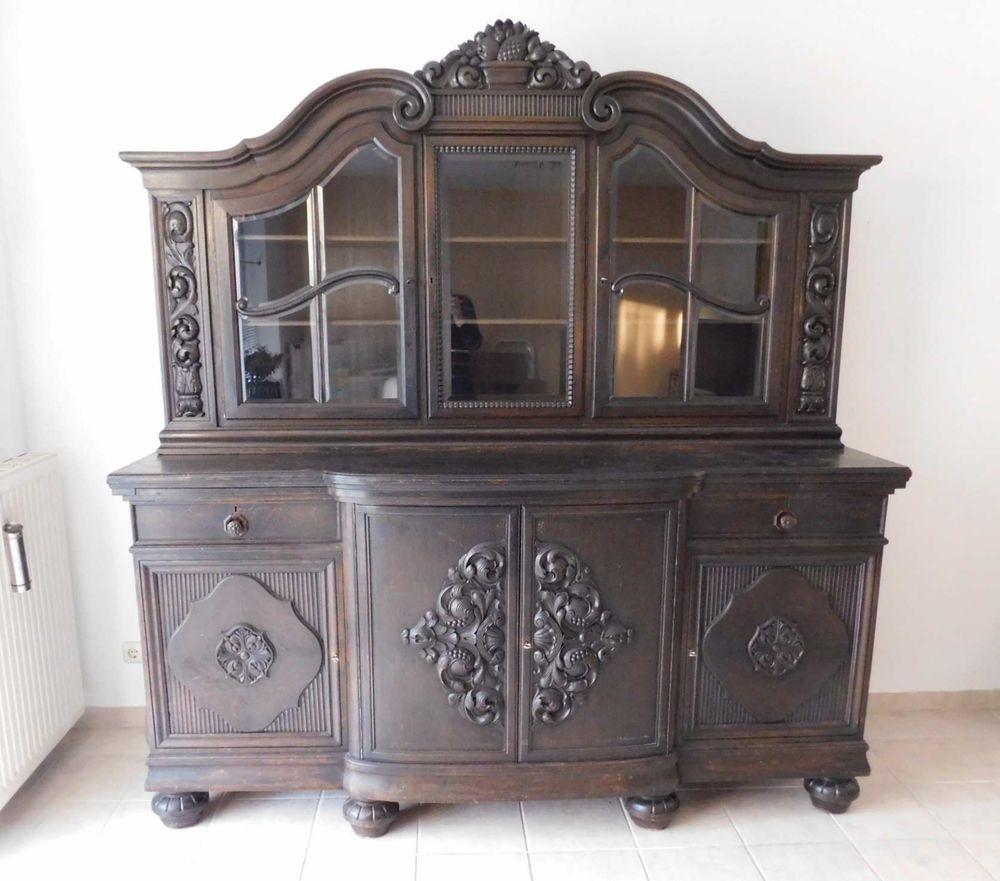Bufett Schrank Wohnzimmerschrank Eiche 7er Jahre  Antiquitäten