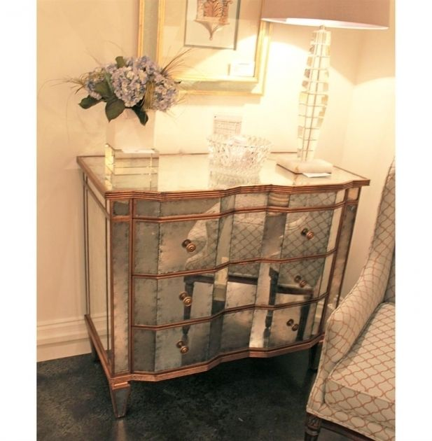 Mirrored Furniture With Gold Trim