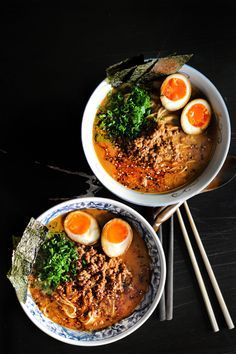 Here it is a amazing Japanese inspired dish - Spicy Miso Ramen.