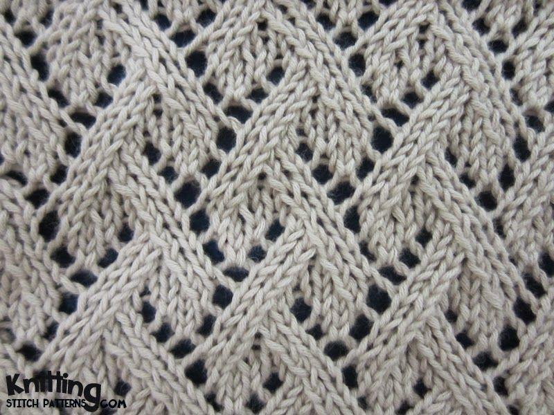 Grapevine Lace stitch | knittingstitchpatterns.com | knit stitch ...