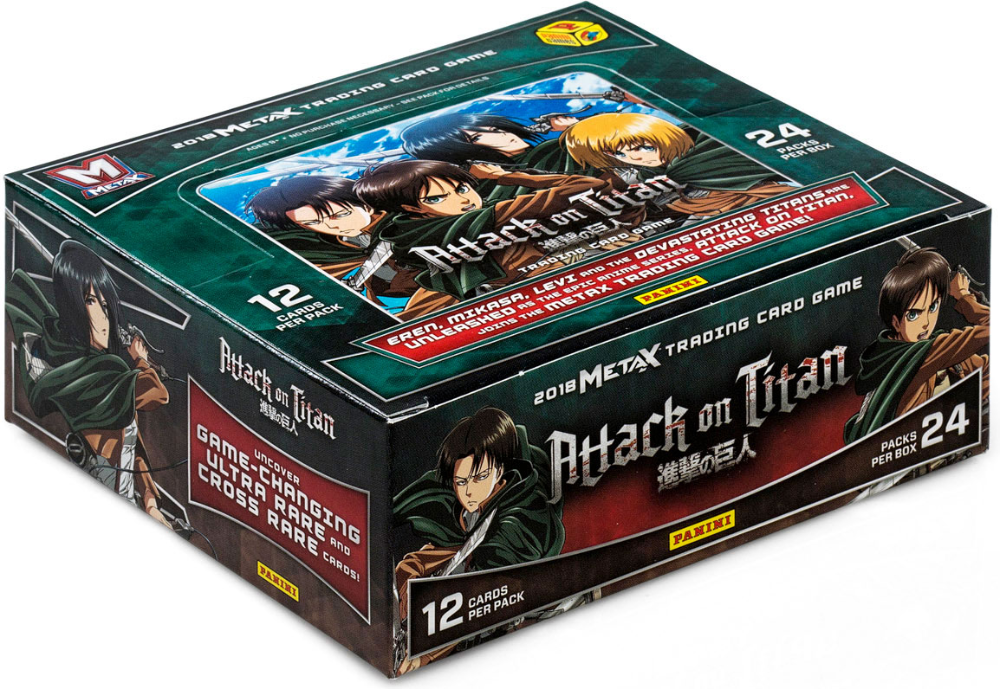 Free 2 Day Shipping Buy Panini Games 2018 Metax Attack On Titan Trading Card Game Booster Box At Walmart Com Card Games Trading Cards Game Family Game Night