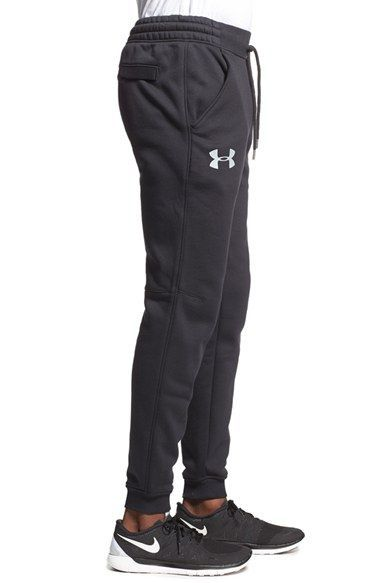 Under Armour Boys Armour Fleece Solid Joggers Steel Light Heather Active Pants
