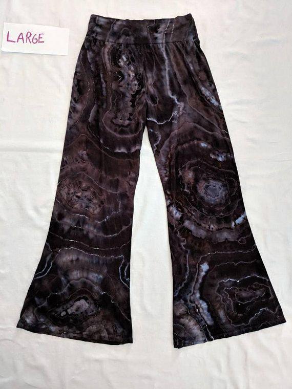 9bb9908cb07 Large XL 2XL Onyx Geode Ice Tie Dye Palazzo Pants Ice Tie Dye