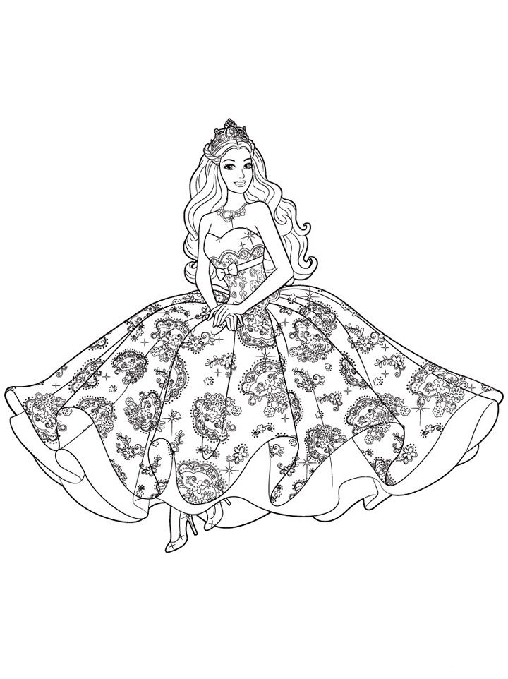 New Barbie Coloring Pages For Girls