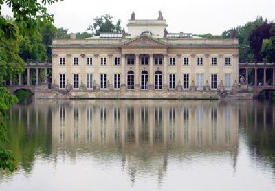 Pałac Na Wodzie W łazienkach Królewskich Warszawa Fasada