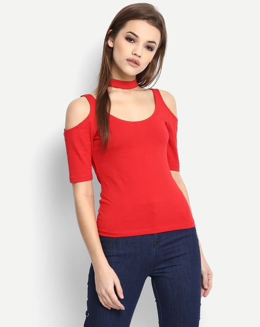a88295dd205fe0 Red Willodean Cold Shoulder Top #Top #Red #Solid | Women's Western ...
