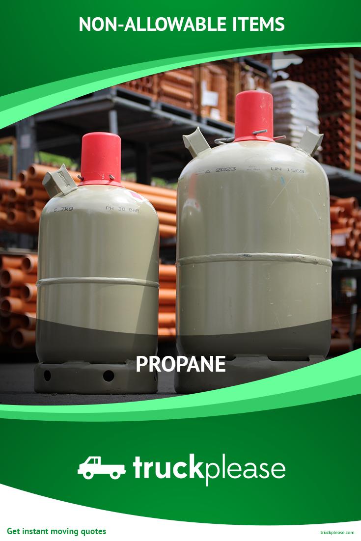 Moving NonAllowable Item 👉🏻 Propane is denser than air