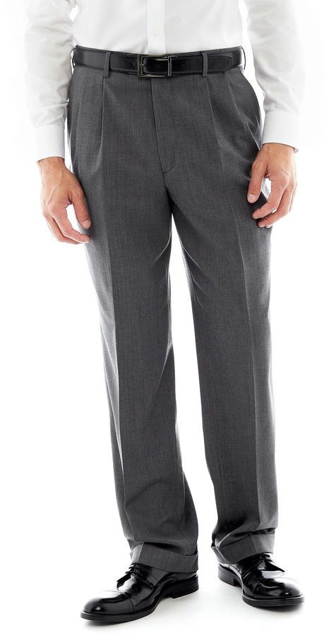 STAFFORD Stafford Executive Super 100 Pleated Suit Pants - Classic