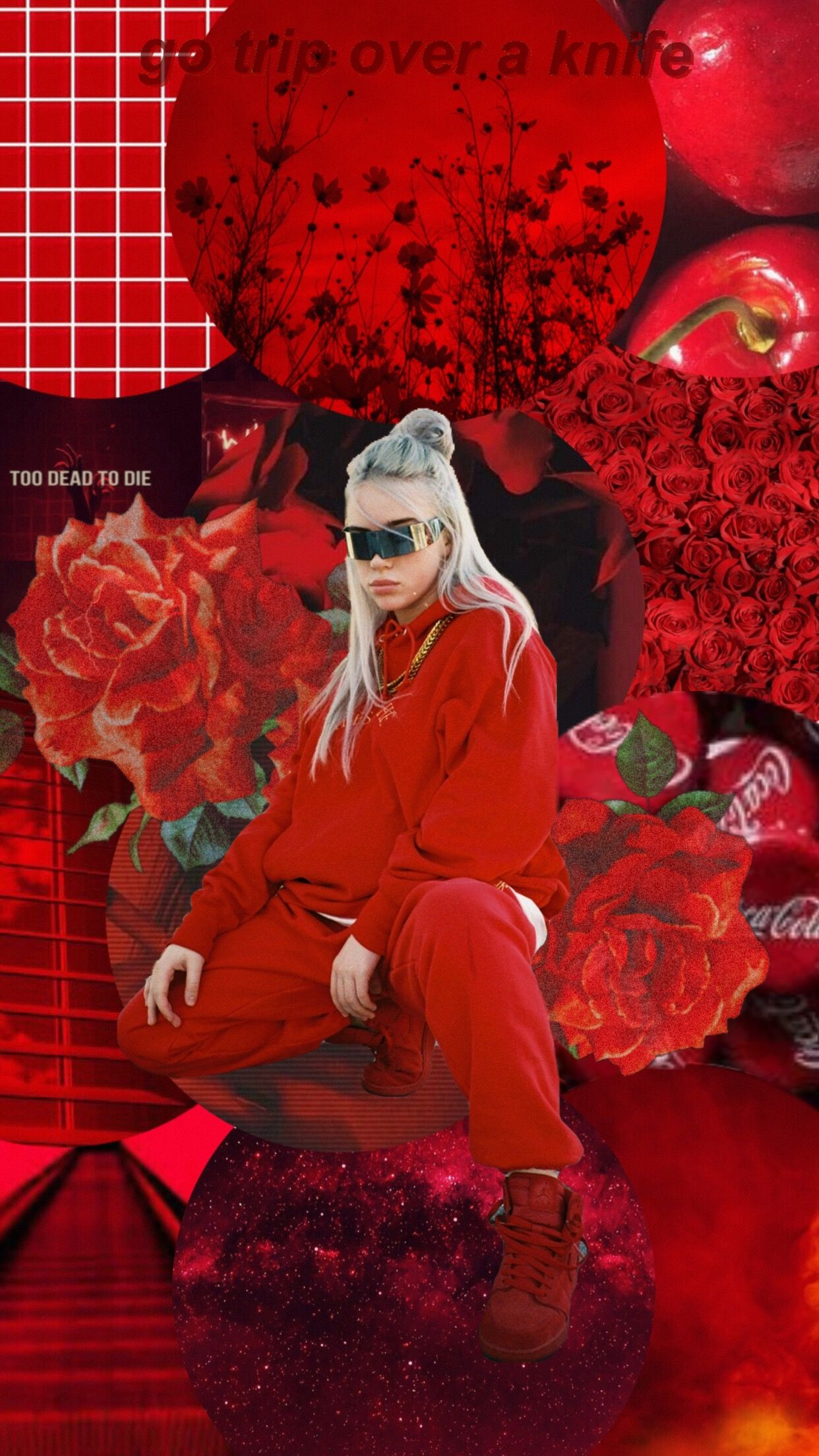 Made To Be Used As An Iphone Wallpaper Niche Art Background Edit Phonto Wallpaper Aesthetic Relateable Nichelove Red Aesthetic Billie Eilish Billie