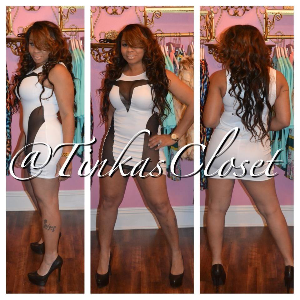 White V mesh dress