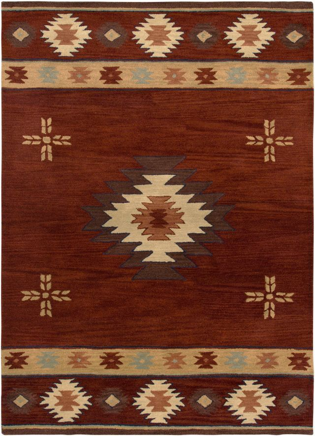 South Western Carpet Southwestern Rizzy Rugs Southwest Red Wool 12406
