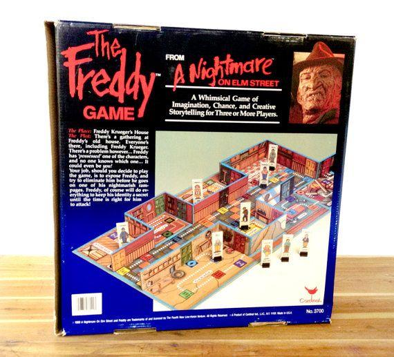 Nightmare On Elm Street Board Game Vintage 1989 The Freddy Game By Cardinal Freddy Krueger Wes Craven 1980s Horror Movies Halloween Board Games Nightmare On Elm Street Classic Board Games