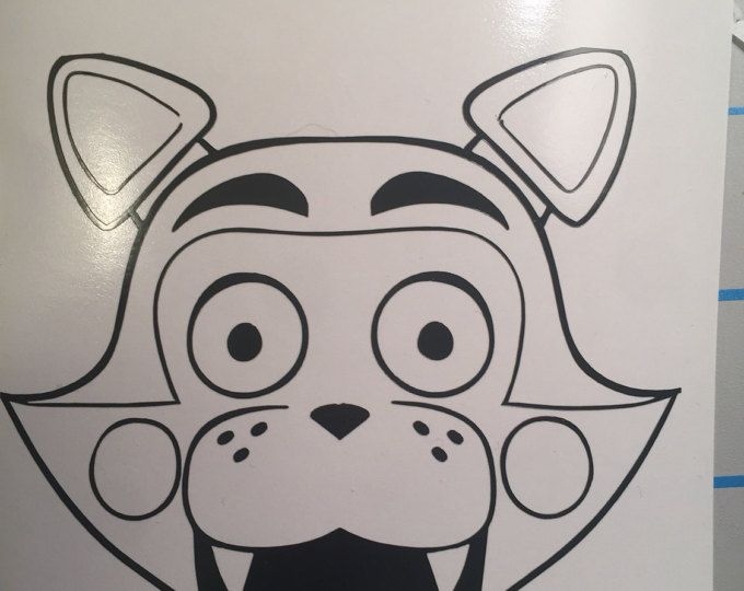 Free Shipping Five Nights At Freddys 4 Candy Vinyl Decal Sticker Fnaf Coloring Pages Five Nights At Freddy S Coloring Pages