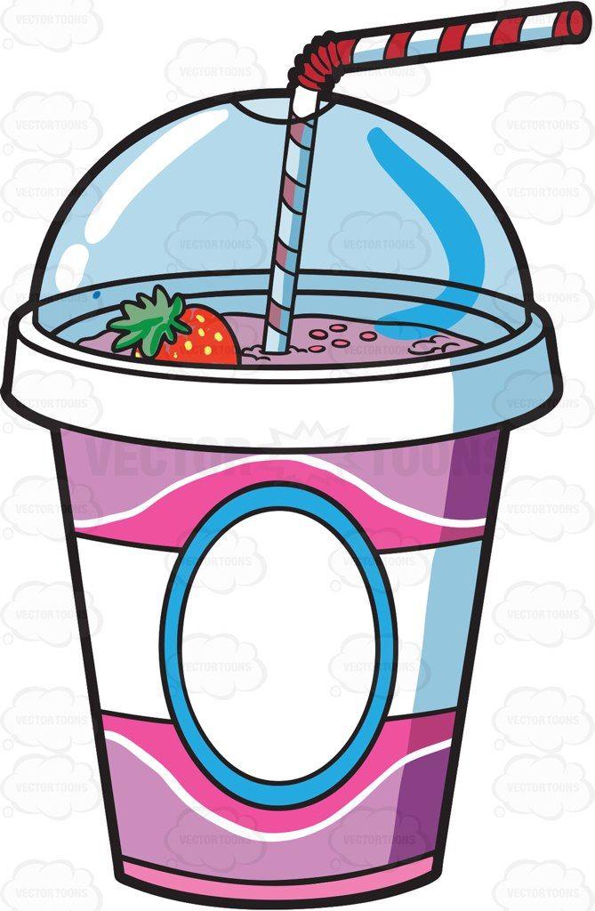 A Cup Of Fresh Strawberry Milkshake Milkshake Strawberry Milkshake Cute Food Drawings
