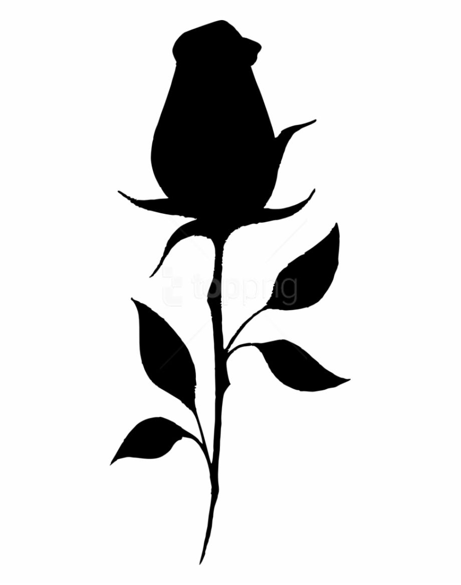 Rose Silhouette Transparent Background Of Silhouette Png Transparent Background Silhouette Stencil