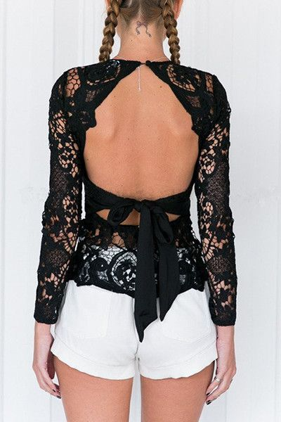 SEE THROUGH BACKLESS TOP
