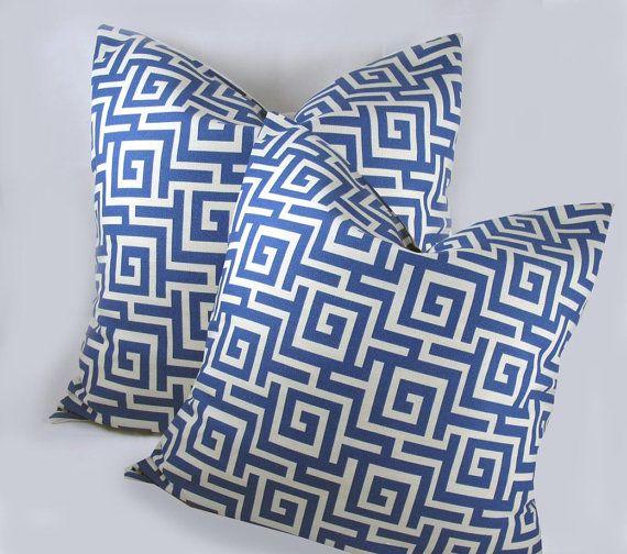 blue /w hite cushions