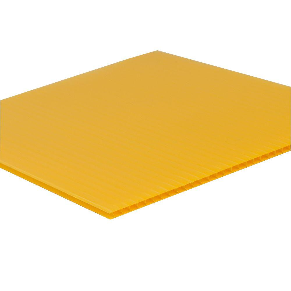 SABIC POLYMERSHAPES 48 in  x 96 in  x 0 157 in  Yellow Twinwall
