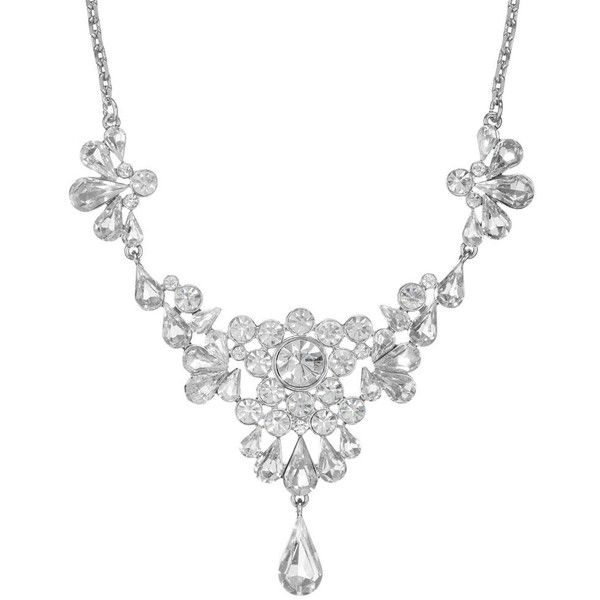 Vintage Cluster Necklace ($72) ❤ liked on Polyvore featuring jewelry, necklaces, accessories, colares, jewels, women's jewellery, cluster jewelry, bride jewelry, chain necklaces and vintage bridal necklace
