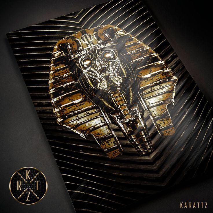 Golden Pharaoh metal print premium luxury karattz thumbnail