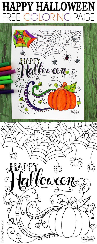 Happy Halloween Coloring Page | Fechas especiales, Día de muertos y ...