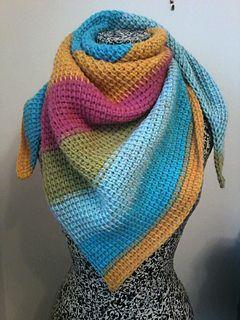 Striped Triangle Shawl Pattern Caron Cakes Yarn Pattern Crochet