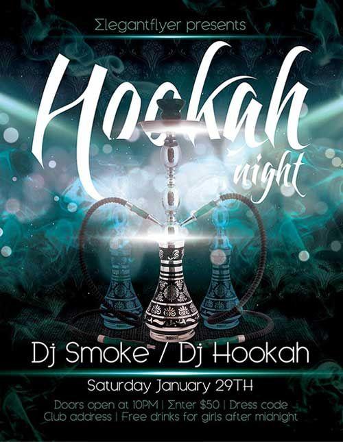 Hookah Night Free Psd Flyer Template  Flyer Hookah