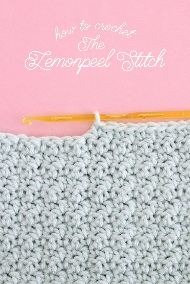 How to Crochet Lemon Peel Stitch | Montón, Limon y Puntadas