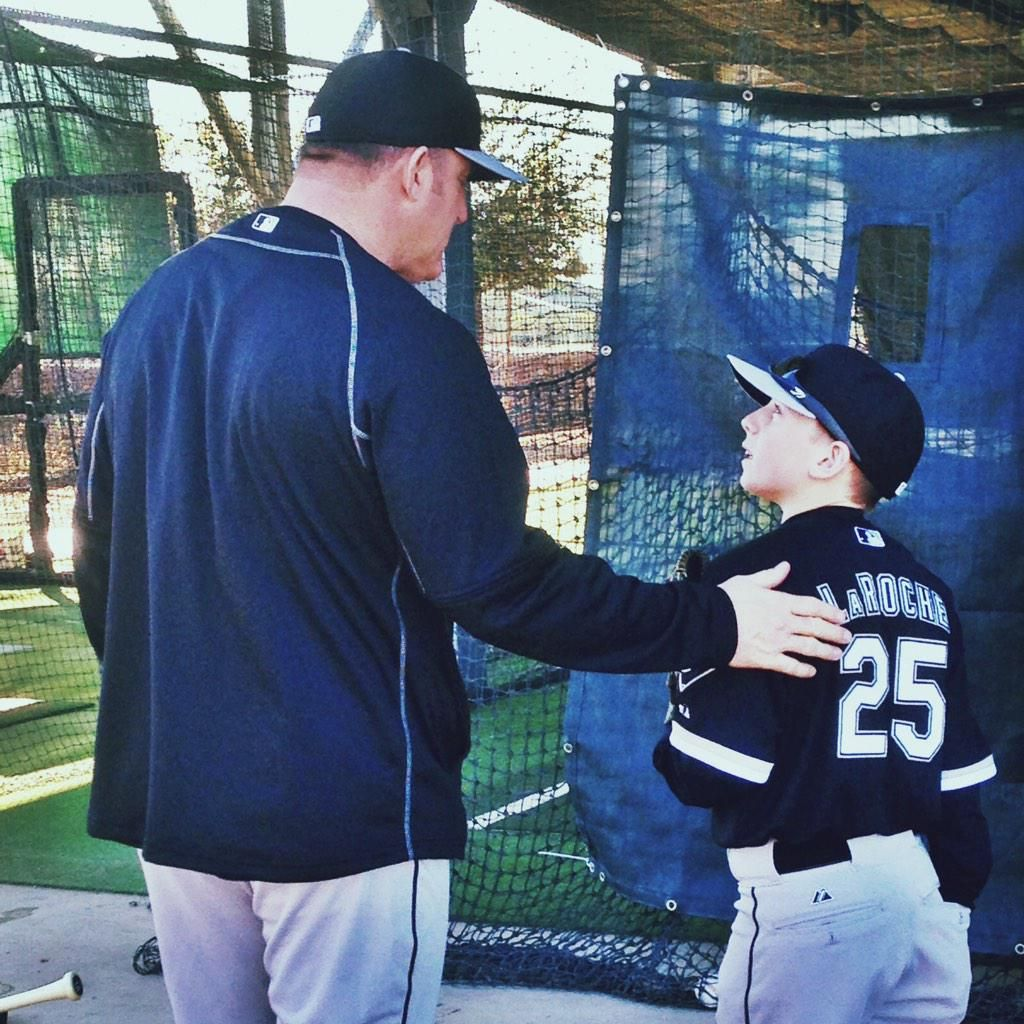 Meeting of the minds - Jim Thome and Drake LaRoche. #SoxSpringTraining