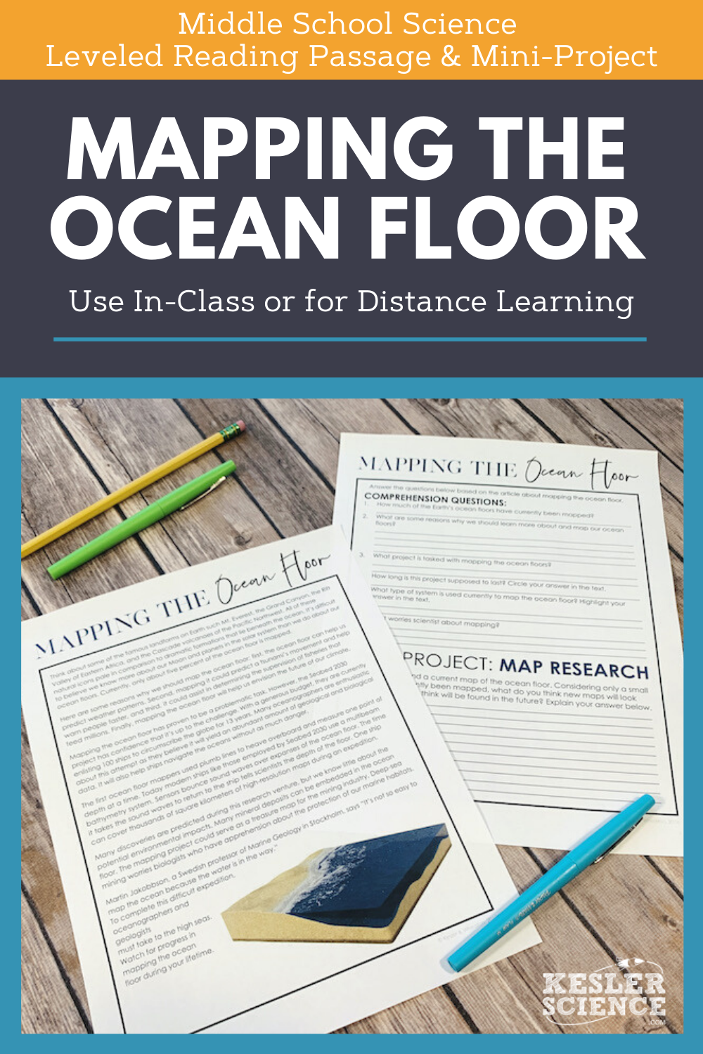 Science Reading Comprehension Mapping The Ocean Floor Distance Learning Science Reading Comprehension Science Reading Middle School Science [ 1500 x 1000 Pixel ]