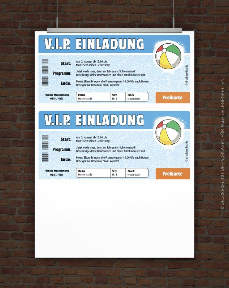 Gestalte Mit Diesen Vorlagen Kostenlose Kindergeburtstagseinladungen Zum  Ausdrucken. Einfach Online Gestalten, PDF Druckvorlage Herunterladen Und  Sofort ...