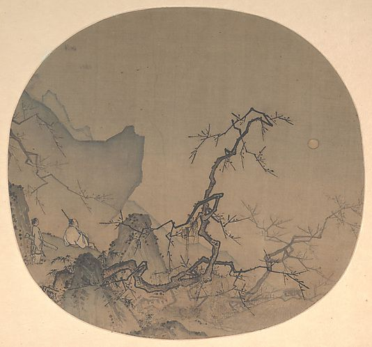 Viewing Plum Blossoms by Moonlight - Ma Yuan (1190-1225)