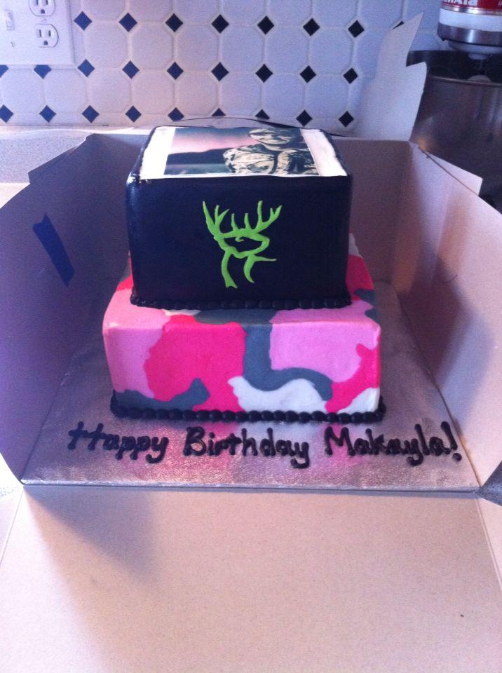 Pink Camo Buck Commander Luke Bryan Edible Image On Top Cake