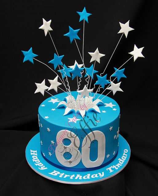 Tindaro 80th Birthday Cake Watermarked By Designer Cakes Effie Via Flickr